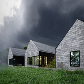 Dramatic sky for Geneva Lake residence.