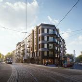 3D визуализация жилого комплекса в Риге