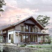 Эскизный проект жилого дома в Карелии.