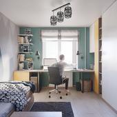 Дизайн комнаты для брата (9 лет). Нравится ли вам качество виза?