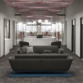 Office space interiors, New York, Manhattan, Madison 509.