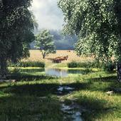 CGI Rural landscape 3D