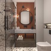 Дизайн ванной комнаты  площадь 4,3 м кв