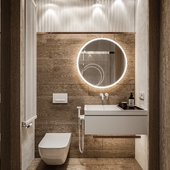 Design of a small bathroom in a country house