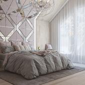 Мансардная спальня.