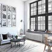 White living room (сделано по референсу)