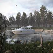 Озеро в лесу...