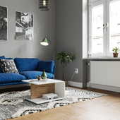APARTMENT SCANDINAVIAN ROCK INTERIOR
