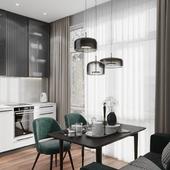 Кухня и прихожая в современном стиле/ Kitchen and hallway in a modern style