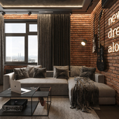 Квартира холостяка в серых тонах