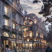 Метро Париж  (сделано по референсу)
