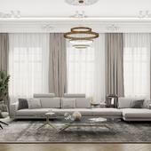 Spacious modern classic living room
