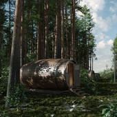 BARREL HOUSE IN THE FOREST