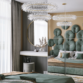 Визуализация спальни, дизайнер проекта Юлия Лозовая