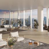 studio apartment with panoramic windows (сделано по референсу)