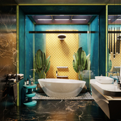Тропический стиль для ванной
