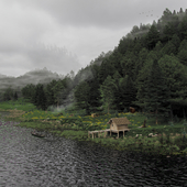 Избушка у реки