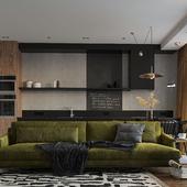 Studio apartment design-concept