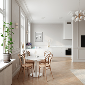 Elegant modern apartment in Stockholm (сделано по референсу)