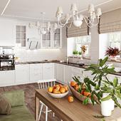 Provence kitchen interior visualisation / Визуализация интерьера кухни в стиле прованс