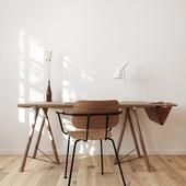 Визуализация кабинета квартиры в скандинавском стиле