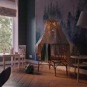 Childhome Rattan Cradle - Scandi Kids Room