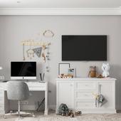 Интерьер детской комнаты мальчика на вырост в классическом стиле