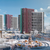 """New Year render of Residential complex """"Dibrova Park"""""""