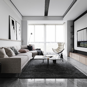 Contracted sitting room