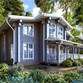 Дом из бруса 210 кв.м