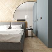 Визуализация спальни в минималистическом стиле