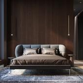 Дизайн спальни и ванной