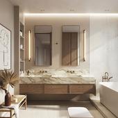 White pear apartment | Bathroom