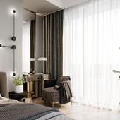 Дизайн и визуализация спальни в Тбилиси, Грузия