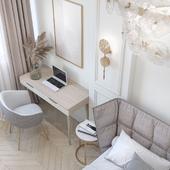 Визуализация спальни для Mila Garc design | G-Room studio