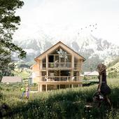 Mountain House, (сделано по референсу)