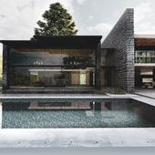 House over a lake.