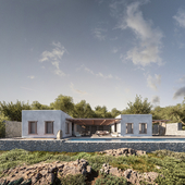 Greek villa with swimming pool