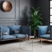Визуализация дивана и кресла Сохо в интерьере