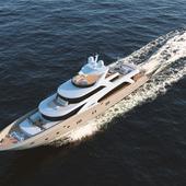 Визуализация яхты Couach 5000 FLY