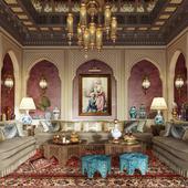 АРАБСКИЙ МАДЖЛИС. Small Arabic Majlis Interior Design