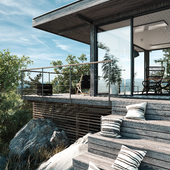 Терраса летнего дома (сделано по референсу)