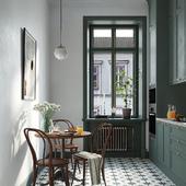 Кухня с венскими стульями