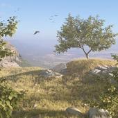 Пейзаж на холмах