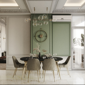 Гостиная и Кухня в неоклассическом стиле