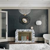 Дизайн гостиной зоны ЖК Символ