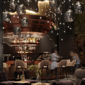Lobby bar design concept