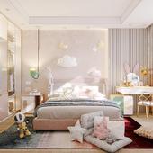 Визуализация комнаты девушки