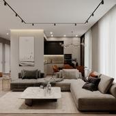 Living room. Kitchen. Hallway.