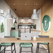Дизайн кофейни в контейнере